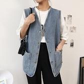 女士馬甲背心外穿春裝2021年新款韓版時尚無袖坎肩外搭牛仔外套潮 童趣屋 618狂歡