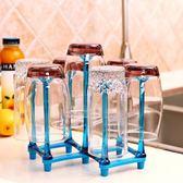 杯架 創意折疊瀝水杯架玻璃杯子倒掛架家用杯架多功能LJ9276『小美日記』