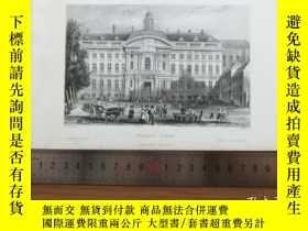二手書博民逛書店【罕見】19世紀 銅 鋼版畫 單幅 PALACE LIEGE(