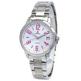 【台南 時代鐘錶 SIGMA】藍寶石鏡面 日期顯示 數字鋼錶帶女錶 88023B04 粉 32mm 平價實惠的好選擇