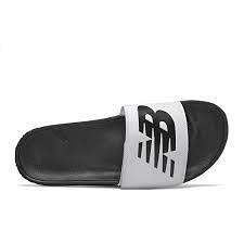 NEW BALANCE 套腳男女鞋紐巴倫輕便舒適情侶穿搭大logo白黑 SMA200W1【FEEL 9S】