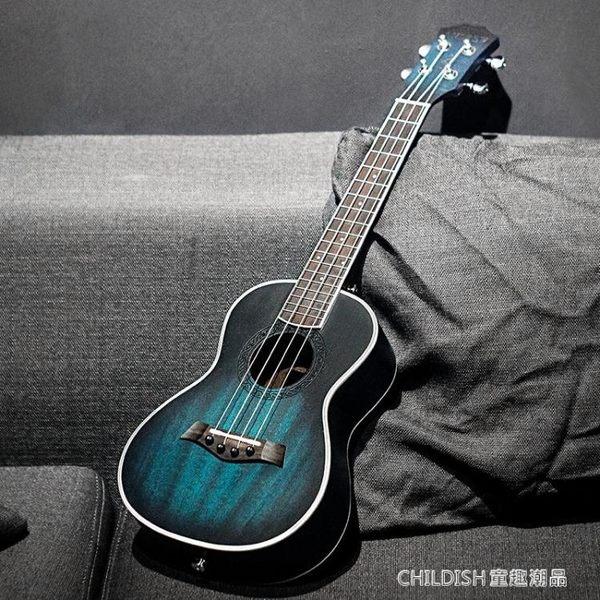 桃花心木26寸夢幻藍ukulele尤克裏裏小吉他學生初學烏克麗 童趣潮品