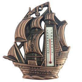 【收藏天地】台灣紀念品*帆船造型溫度計掛飾