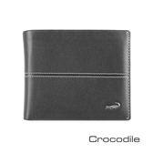 Crocodile Classic 經典系列素面軟皮短夾   0203-3608
