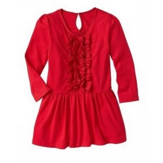 GAP 連身裙長袖洋裝禮服 紅花 | 女童 | 北投之家童裝【GA689445】