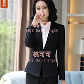 黑色西裝外套女春秋職業小西服上衣韓版工作正裝套裝小個子【桃可可服飾】