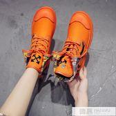 馬丁靴女2019新款英倫風單靴瘦瘦百搭韓版高幫網紅短靴春秋款鞋子 韓慕精品
