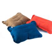 PUSH!登山戶外旅遊用品 舒適麂皮絨充氣枕頭 頭枕P48
