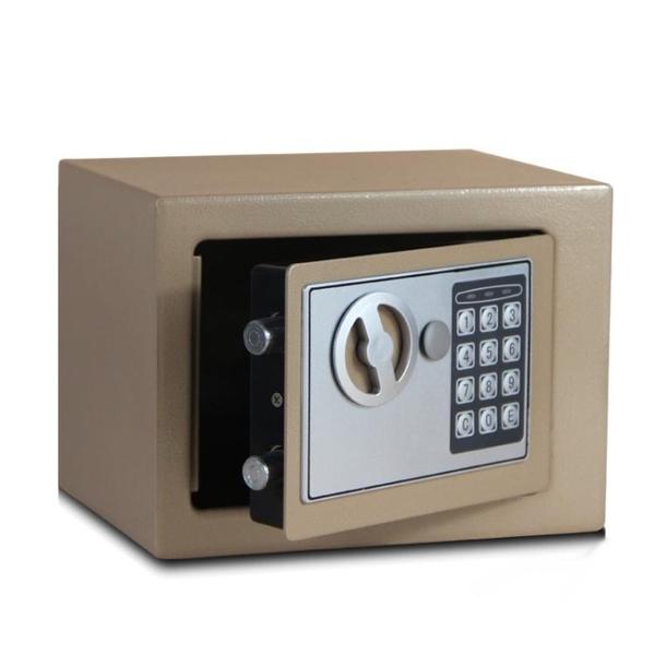 小型全鋼保險櫃家用 保險箱迷你入牆床頭 電子密碼保管箱辦公  HM 居家物語