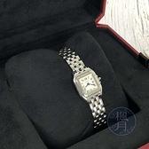 BRAND楓月 Cartier 卡地亞 WSPN0019 白盤藍針 方錶盤 美洲豹迷你款 石英錶 手錶 腕錶 羅馬數字