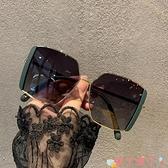 墨鏡 2021韓版新款大框方形潮偏光墨鏡女大臉遮陽開車駕駛街拍太陽眼鏡 愛丫愛丫