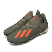 adidas 足球鞋 X 19.3 FG J 綠 橘 女鞋 大童鞋 中童鞋 運動鞋 室外 【ACS】 EF8374