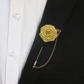 高檔領針領花玫瑰花西裝襯衫胸花胸針 全館免運