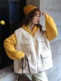 秋冬新款學院風可愛減齡學生寬鬆連帽長袖衛衣外套女時尚套裝 喵可可