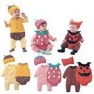 長袖連身衣 秋冬嬰兒造型純棉三件套蜜蜂草莓南瓜 包屁衣 W61050