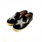 中童 簡約大方 閃亮星星 柔軟輕便鞋 休閒鞋 懶人鞋 《7+1童鞋》E219 黑色