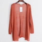針織外套 中長版-開襟薄款涼爽舒適女亞麻罩衫6色73fb2【巴黎精品】