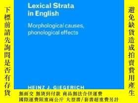 二手書博民逛書店Lexical罕見Strata In EnglishY255562 Heinz J. Giegerich Ca