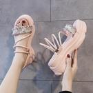 鬆糕涼鞋 2021夏季新款涼鞋女厚底增高百搭鬆糕仙女風兩穿女鞋涼拖外穿學生 小天使