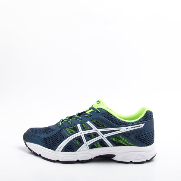 零碼出清~Asics GEL-CONTEND 4 GS 兒童慢跑鞋-深藍/白 C707N-4901