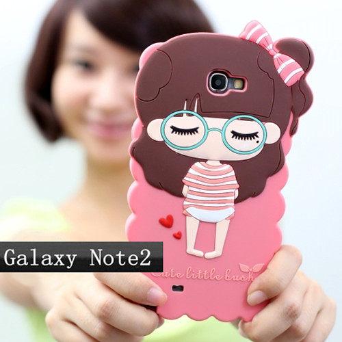 note 2免運 S4 i9500三星note2 S3/9300 iphone 4/4S iphone 5卡通小希矽膠套 N7100最新款