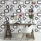 黑白相框自粘壁貼 廚房壁貼 自粘壁紙 【進口壁貼】NU WALLPAPER NU1661