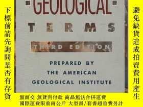 二手書博民逛書店Dictionary罕見of Geological Terms: