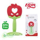 【愛吾兒】韓國 tgm 水果矽膠咬牙固齒器-蘋果 3M+ (附收納盒) 韓國進口