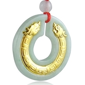 金鑲玉項鍊 翡翠吊墜-雙頭貔貅生日情人節禮物男女飾品73gf27【時尚巴黎】