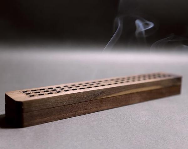 香盒 寬為本長款臥香爐便攜線香盒香爐家用沉香檀香爐文創禮品臥香爐 米家