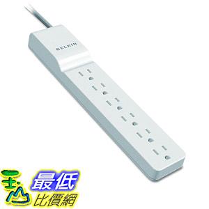 [8美國直購] 插座電源板 Belkin 6-Outlet Power Strip Surge Protector w/ Flat Rotating Plug, 8ft Cord