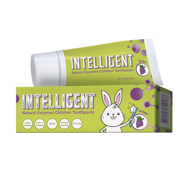 Intelligent 因特力淨 兒童酵素牙膏-葡萄 (40g/條)【杏一】
