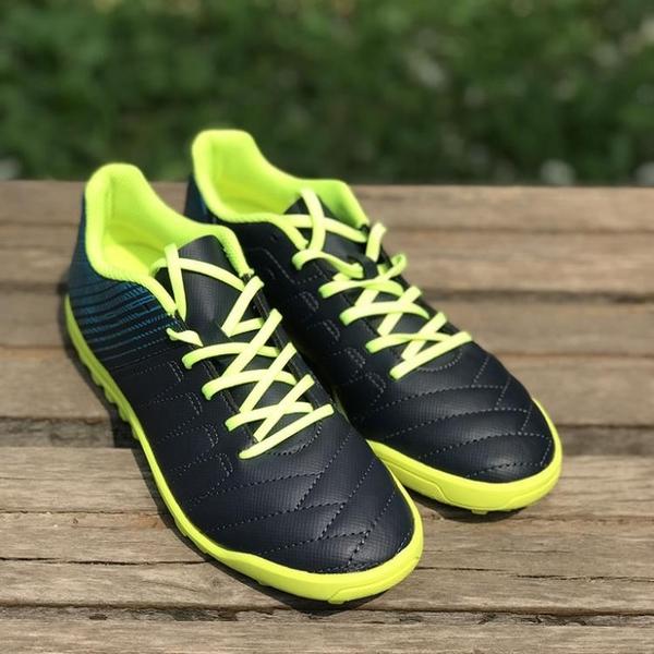 迪卡儂兒童足球鞋 碎釘人造草地青少年足球運動鞋偏硬場地 kipsta