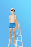 【M9210】梅林泳裝2020新品特價~男童藍配色帆船BOY四角泳褲