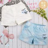 (大童款-女)雙蝶結刷色熱褲短褲-2色(270477)★水娃娃時尚童裝★