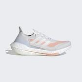 Adidas Ultraboost 21 W [FY0396] 女鞋 慢跑 運動 休閒 輕量 支撐 緩衝 彈力 白 粉紅