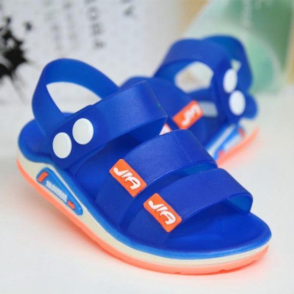 全館免運八折促銷-兒童涼鞋運動果凍塑膠嬰兒寶寶防滑男童女童沙灘鞋潮 萬聖節
