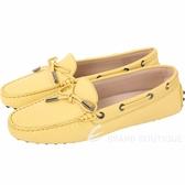 TOD'S Gommino 經典綁帶休閒豆豆鞋(女鞋/黃色) 1820081-66