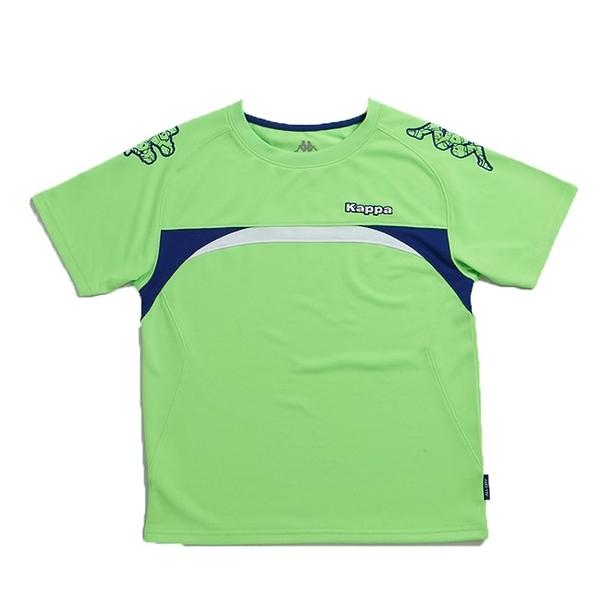 KAPPA義大利型男吸濕排汗速乾彩色圓領衫 螢光綠/科技藍/白