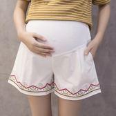 孕婦褲夏季薄款純棉孕婦短褲女夏裝外穿托腹褲寬鬆打底褲闊腿褲子