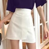 褲裙 白色不規則短裙女半身裙秋冬2020新款裙子高腰a字裙顯瘦褲裙半裙-米蘭街頭