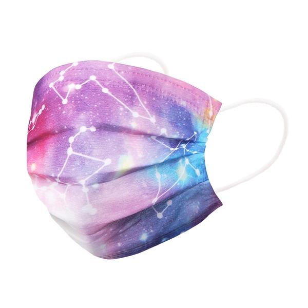【3期零利率】預購 RM-A118 一次性防護炫彩星座口罩 50入/包 獨立包裝 3層過濾 熔噴布 (非醫療)