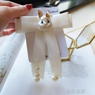 領結 熱賣韓國可愛精致領結女衣領學院風珍珠蝴蝶結配飾白色領花別針潮