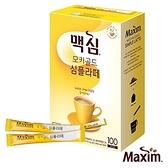 【外盒壓傷即期福利品出清】效期2021.07.13 Maxim 黃金摩卡拿鐵 二合一咖啡 (10.5g×100入/盒)