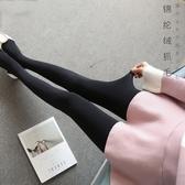 中大呎碼秋裝新品一體褲細絨連腳褲襪踩腳打底褲女