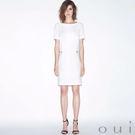 oui 白色短袖直筒洋裝(中大尺碼)...