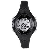 Speedo 紫外線感測運動電子腕錶-黑