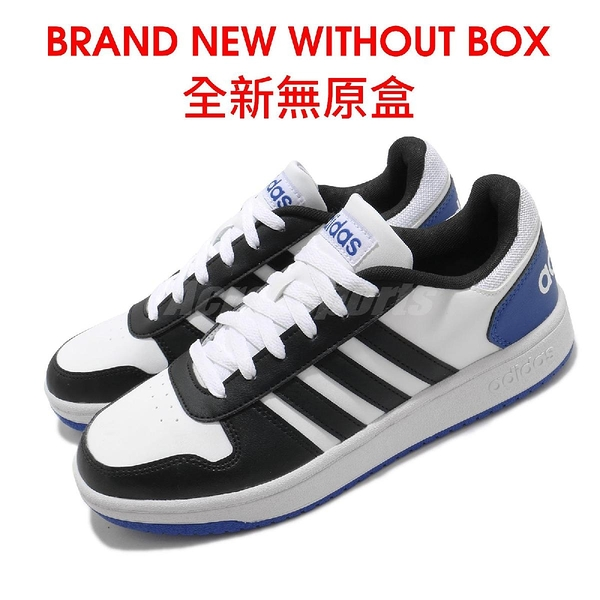 【US8-NG出清】adidas 休閒鞋 Hoops 2.0 黑 藍 白 男鞋 運動鞋 全新無原盒 【ACS】