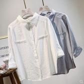 夏裝新款韓版中袖襯衫女