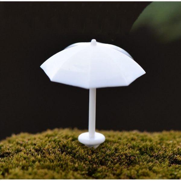 ⓒ白色小雨傘微景觀 多肉植物盆栽裝飾【A005002】